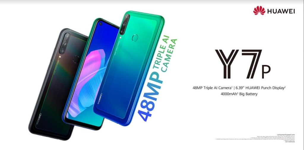 Shoot in Style with the new AI Triple-camera HUAWEI Y7p