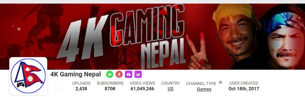 Top Nepali Streamers and  Gamers in Nepal 4k Gaming Nepal
