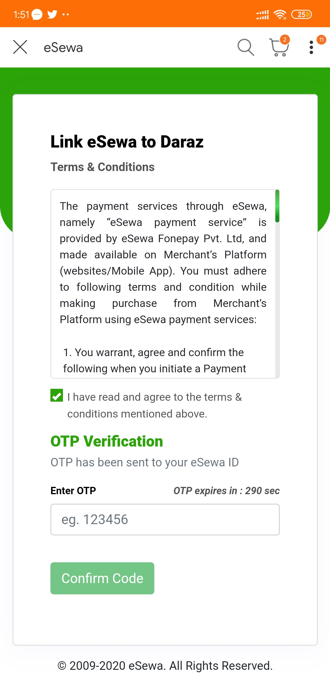 eSewa Payment Now Available on Daraz | Daraz Accepts eSewa Payment 4